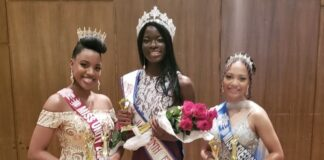 From left, Miss Unity, Jaria Gibson; Miss Juneteenth, Precious Maku; and runner-up Miss Freedom, Ariane Gibbons.Genuineshotz