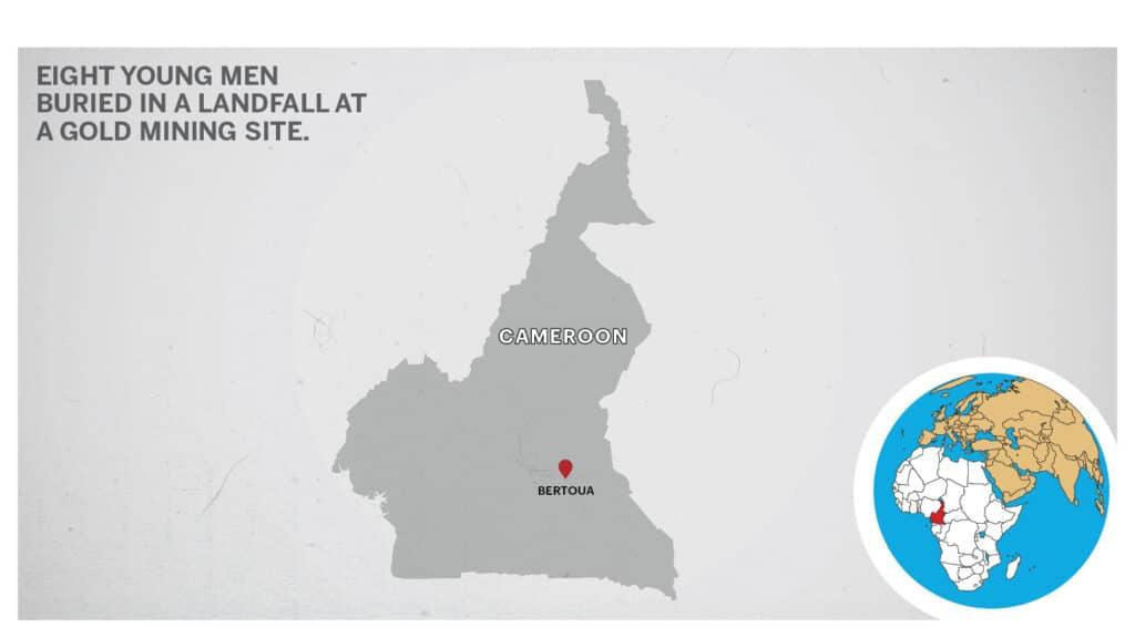 The map of Bertoua Cameroon