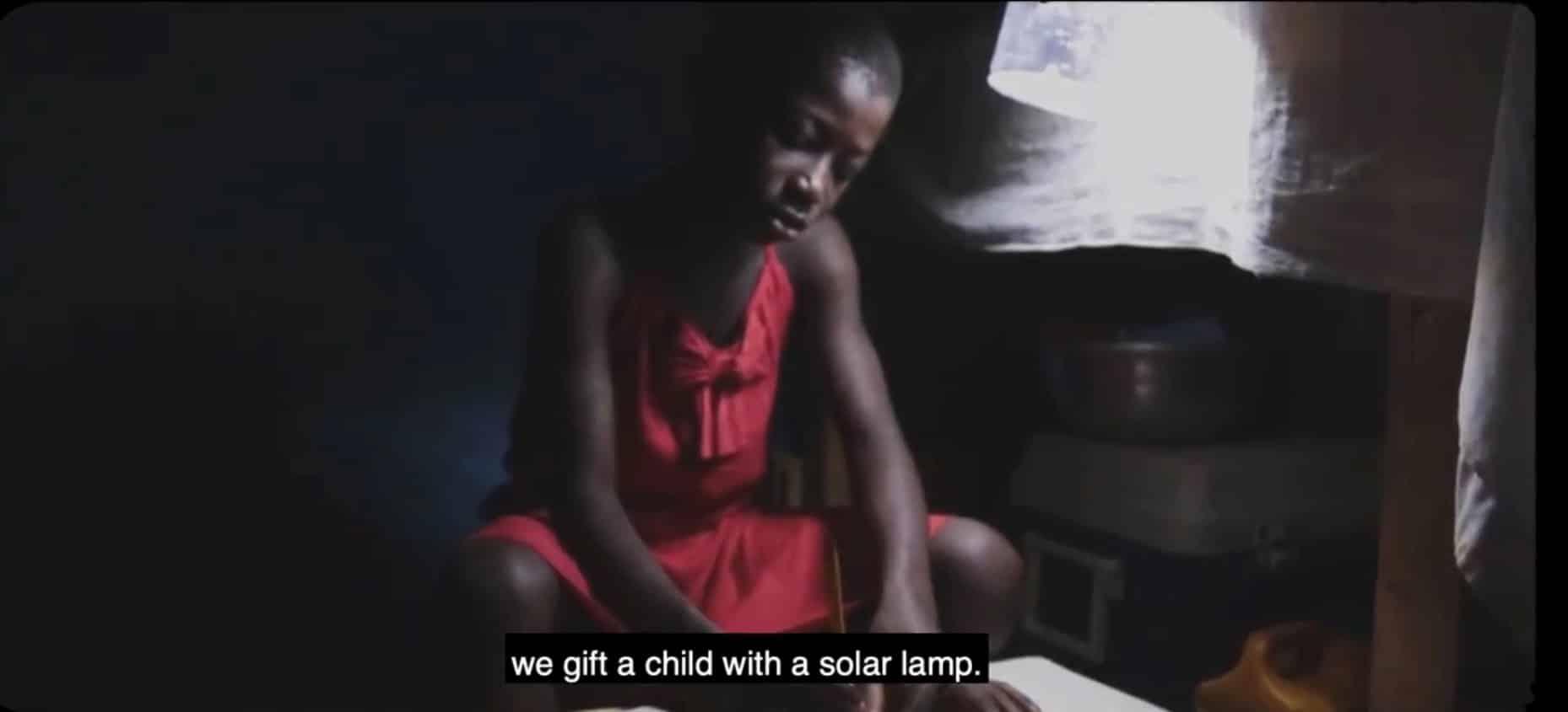 Child solar lamp re dress