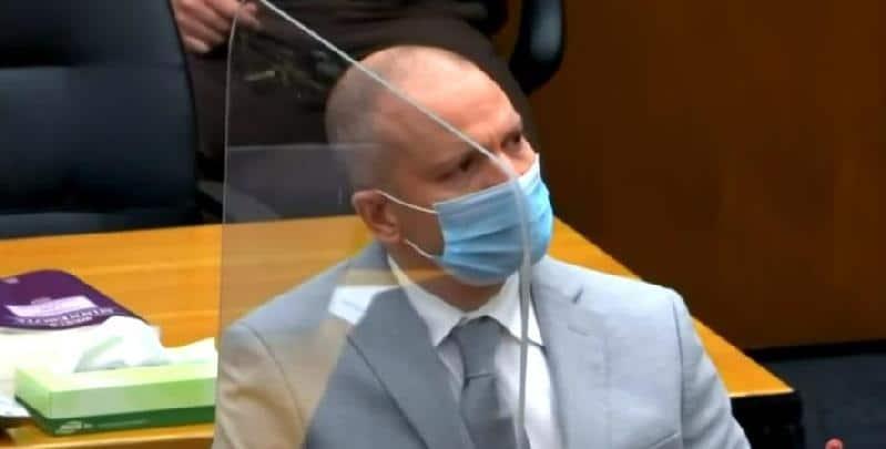 Derek Chauvin - sentencing - screenshot