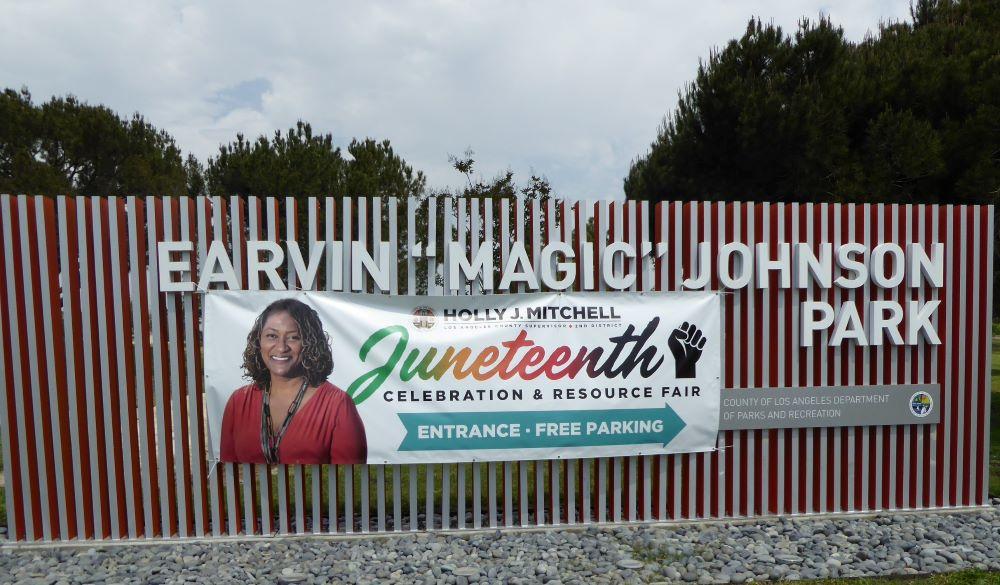 Ervin Magic Johnson Park Signage