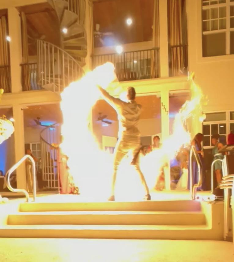 Flame thrower at the Ball