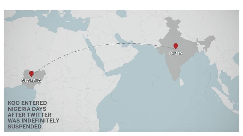 Map of India to Nigeria2