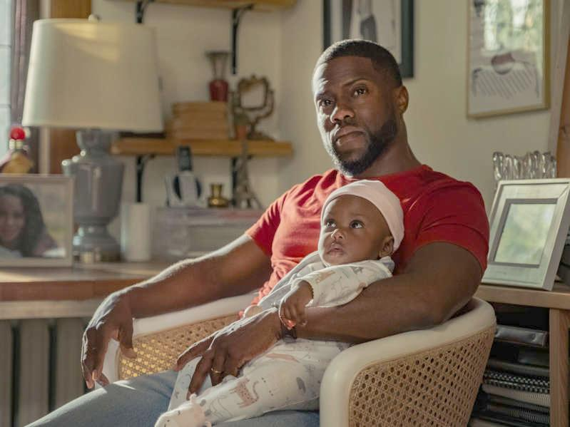 Kevin Hart (with baby in Netflix's Fatherhood)