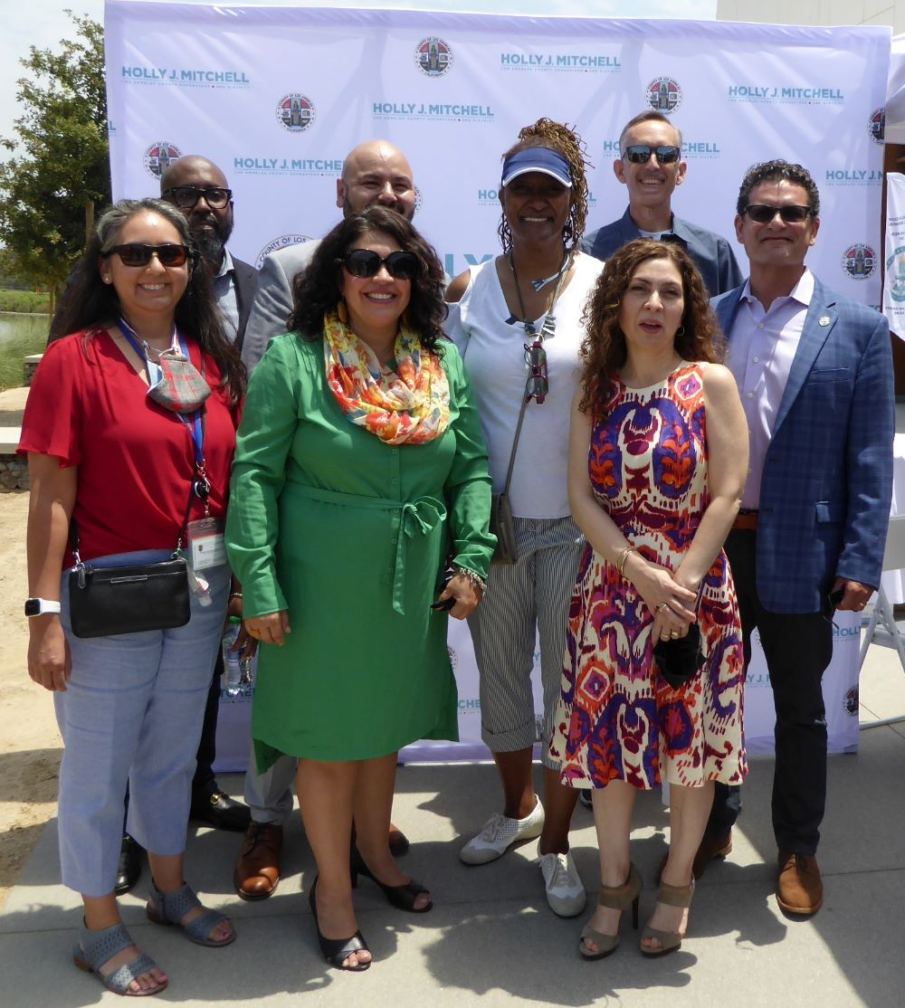 Los Angeles County Supervisor Holly Mitchell and Elected Officials