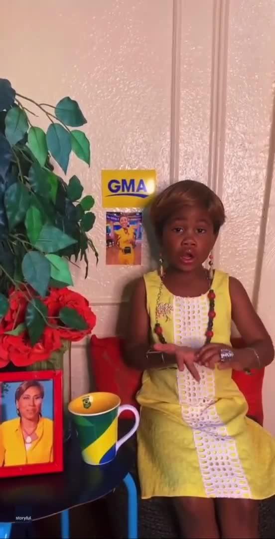 little girl impersonates robin roberts