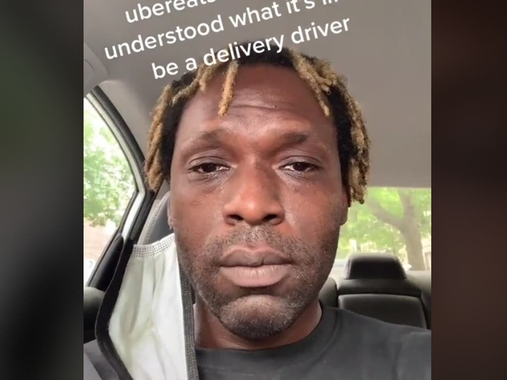 uber eats driver breaks down