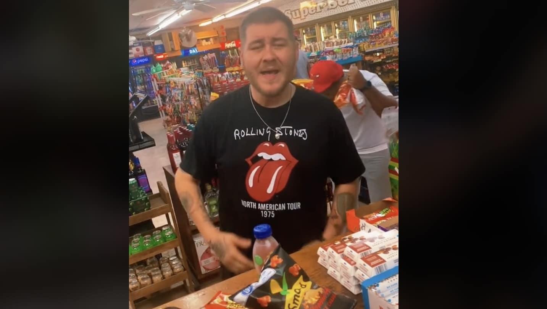 Man sings Keith Urban in gas station mart