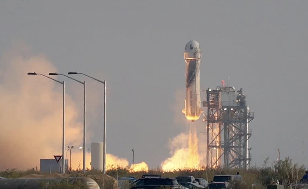first blue origin space flight
