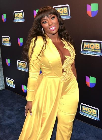 Amara La Negra (2021 -yellow pantsuit) - Getty