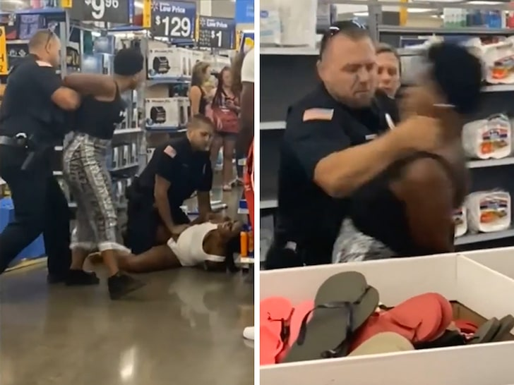 Cop punches woman in throat