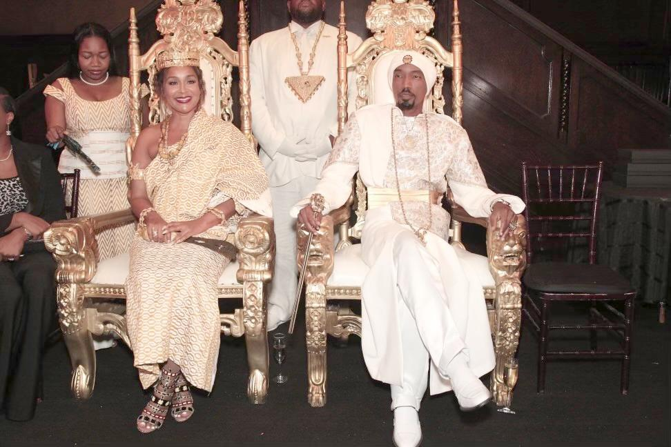 LisaRaye Ghana - King YAHWEH and LisaRaye after her crowning