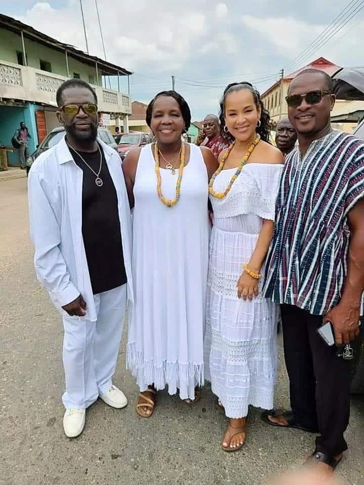 LisaRaye Ghana - LisaRaye with Queen Mother Yahweh, Yahweh Noble and Frank Kwesi Ocran