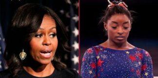 Michelle Obama - Simone Biles / Getty