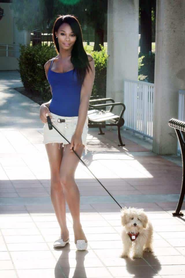 Jasmine Davis and fur baby