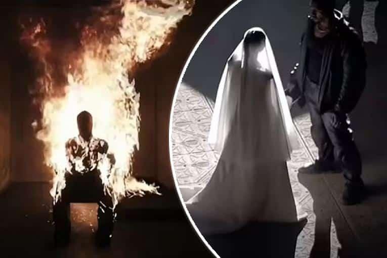 Kanye West - Donda - Setting Self on Fire - Marrying Kim K (Apple-Getty)