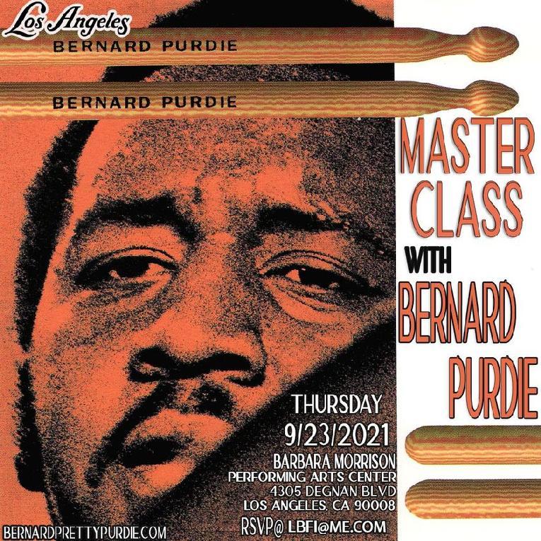 Bernard Purdie LA Master Workshop flyer