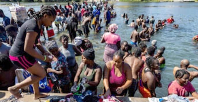 Haitian immigrants Texas border (Getty)