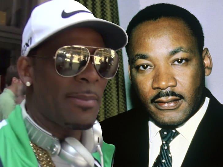 R Kelly & MLK Jr (Getty)
