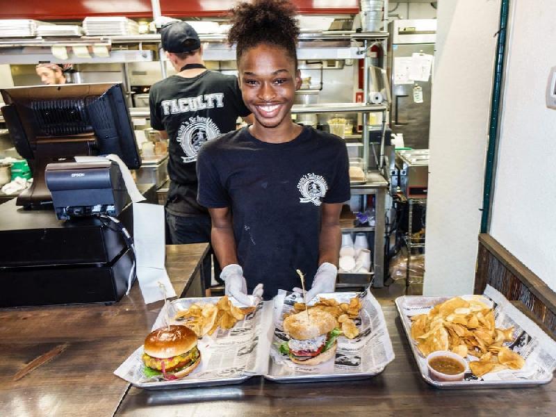 Teen worker (fast food) - Getty