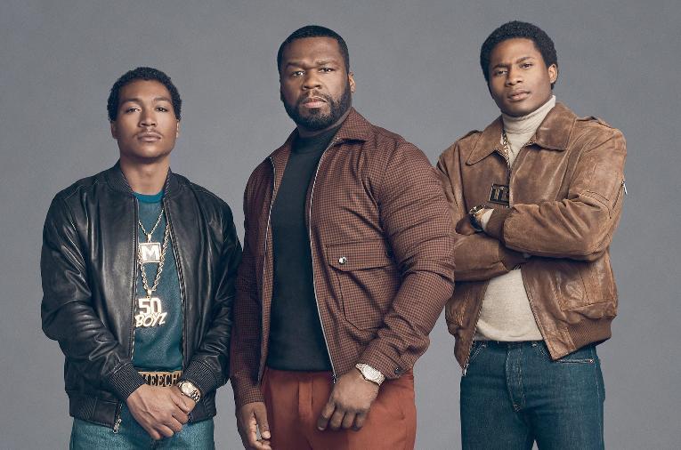 50 Cent and BMF actors Demetrius Flenory & Da'Vinchi (STARZ)