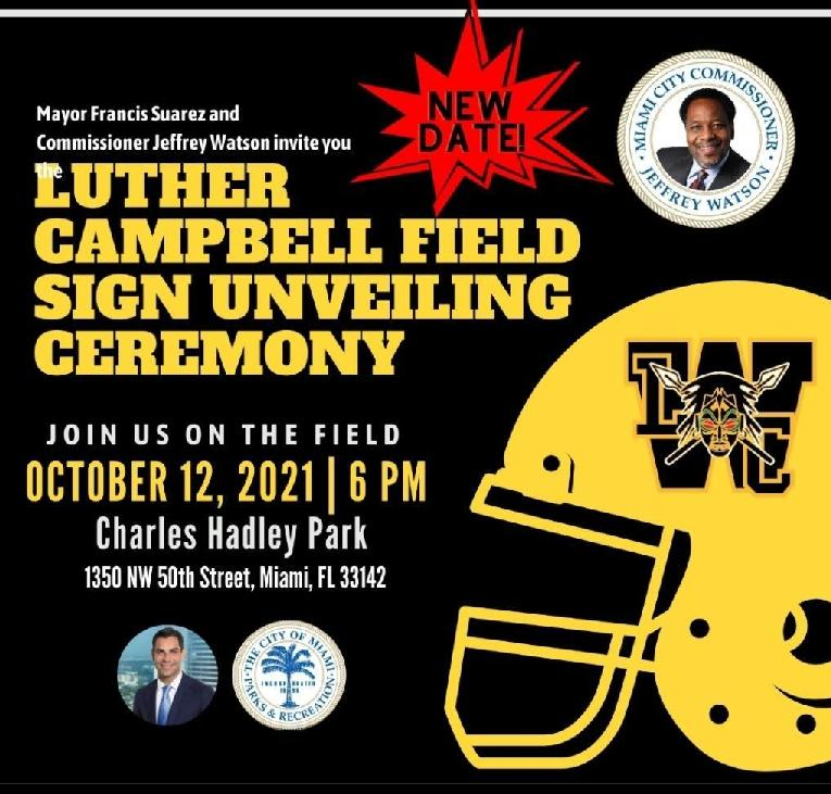 Luther Campbell Field Signing Ceremony
