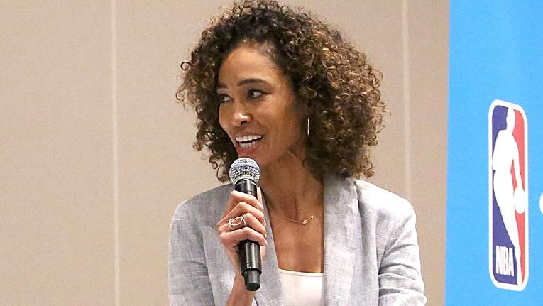 Sage Steele (with mic) - Getty