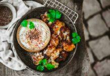 Vegan plate of food / Getty