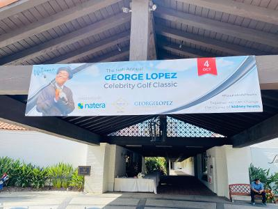 George Lopez Celebrity Golf sign